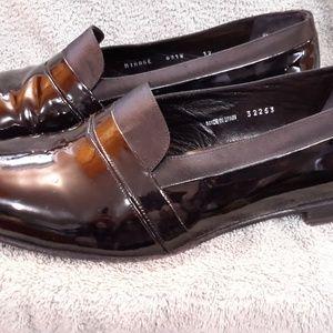 Men's dress shoes, black, sz 12w, tuxedo Mezlan